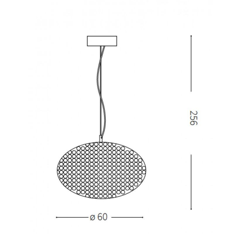 Pendant lamp - ORION SP6 Ø 40 сm