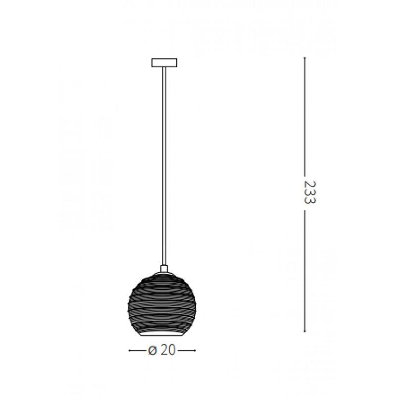 Pendant lamp - RIGA SP1 BIG Ø 20 cm