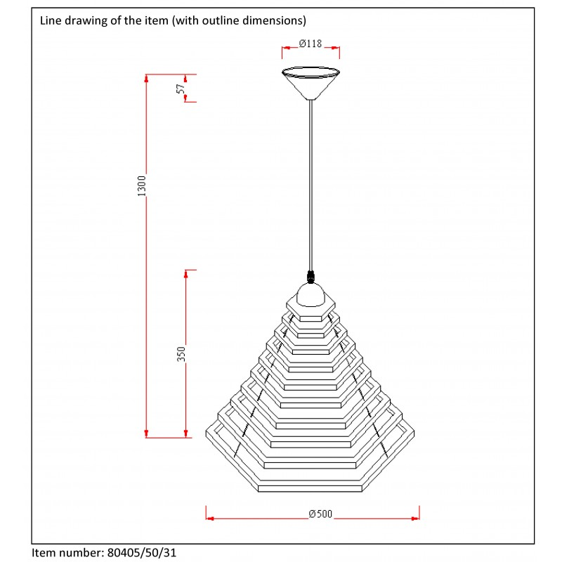 Pendant lamp TORA