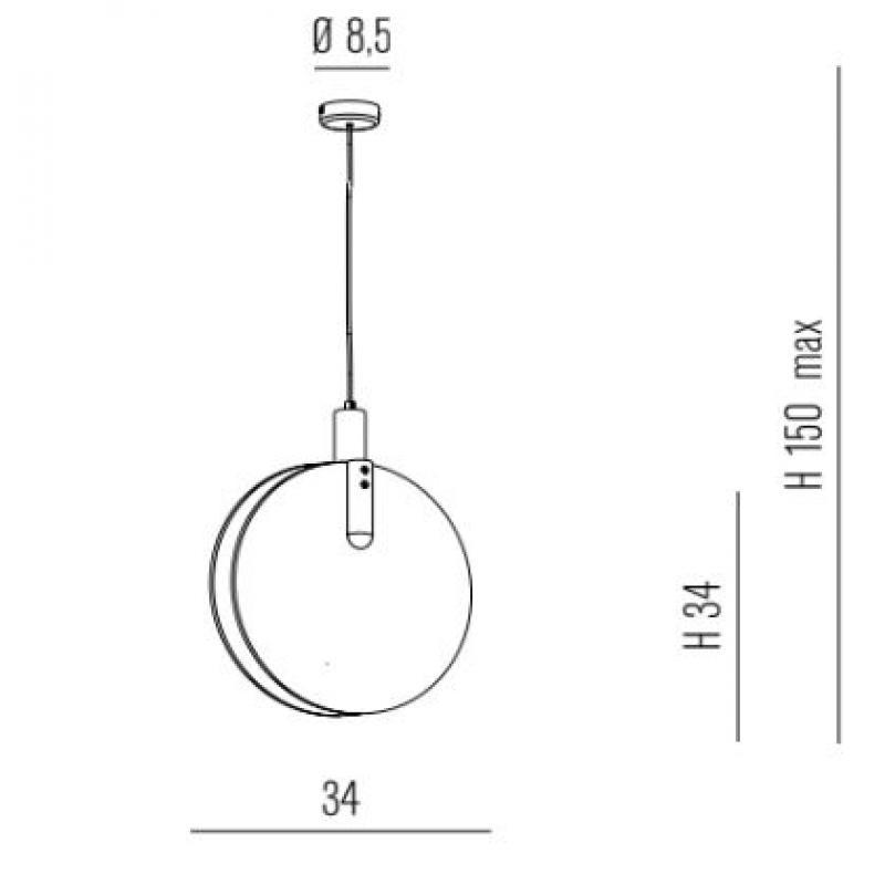 Suspension lamp LASTRA DROP