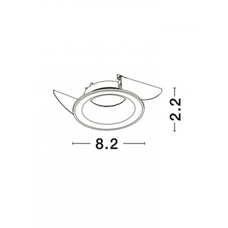 Recessed lamp ZELMIRA Ø 8,2 cm