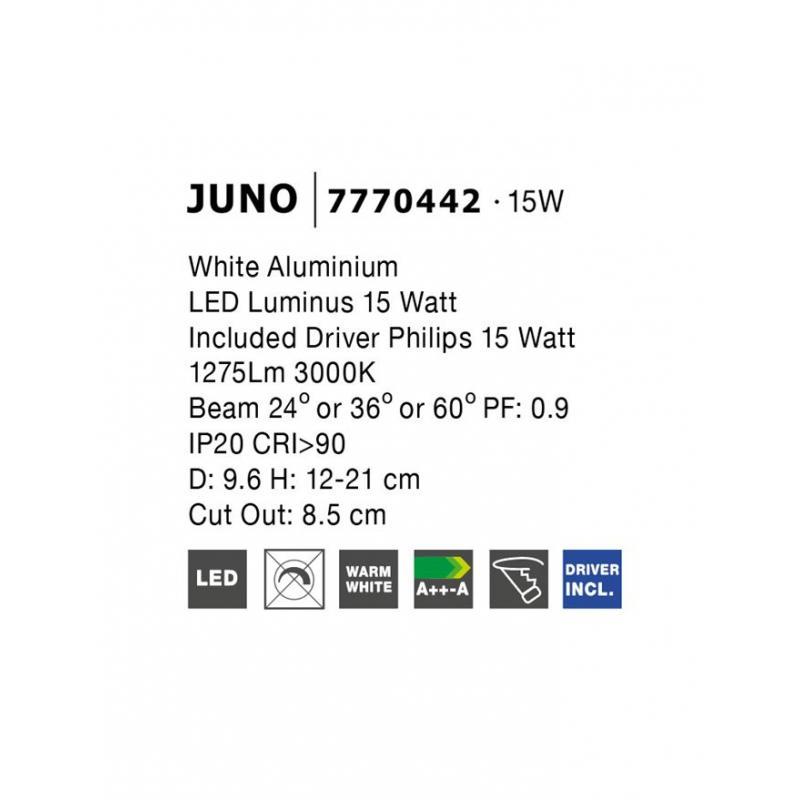 Recessed lamp JUNO Ø 9.6 cm