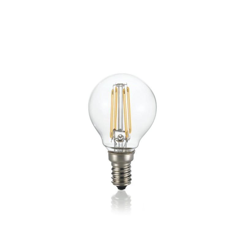 LED Bulb E14 4W SFERA TRASPARENTE 3000K