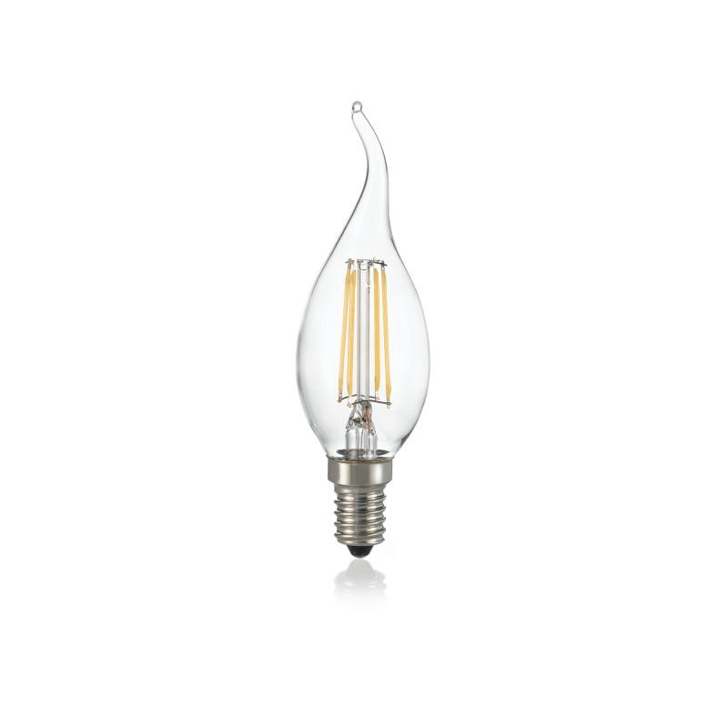 LED Bulb CLASSIC E14 04W COLPO VENTO TRASP 3000K