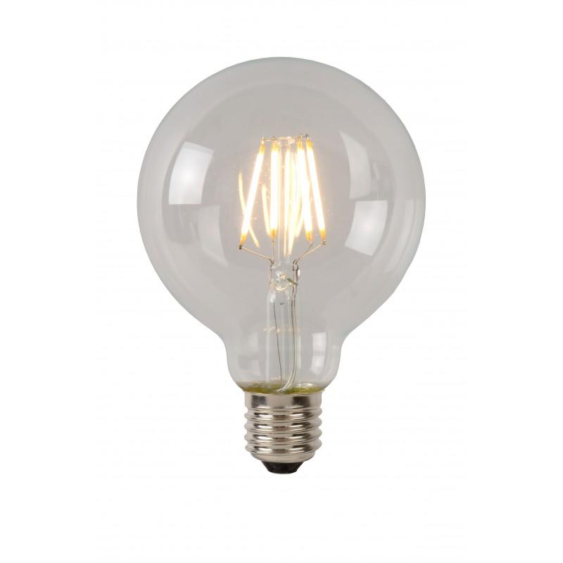 LED Bulb E27, Ø 9,5 cm - Transparant