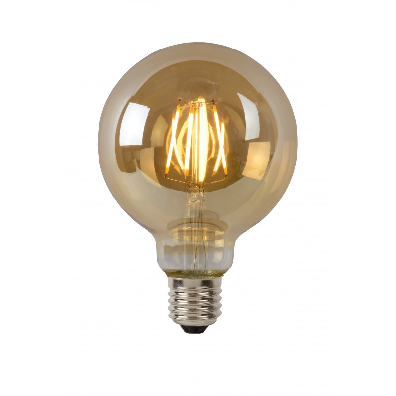LED Bulb E27, Ø 9,5 cm - Amber