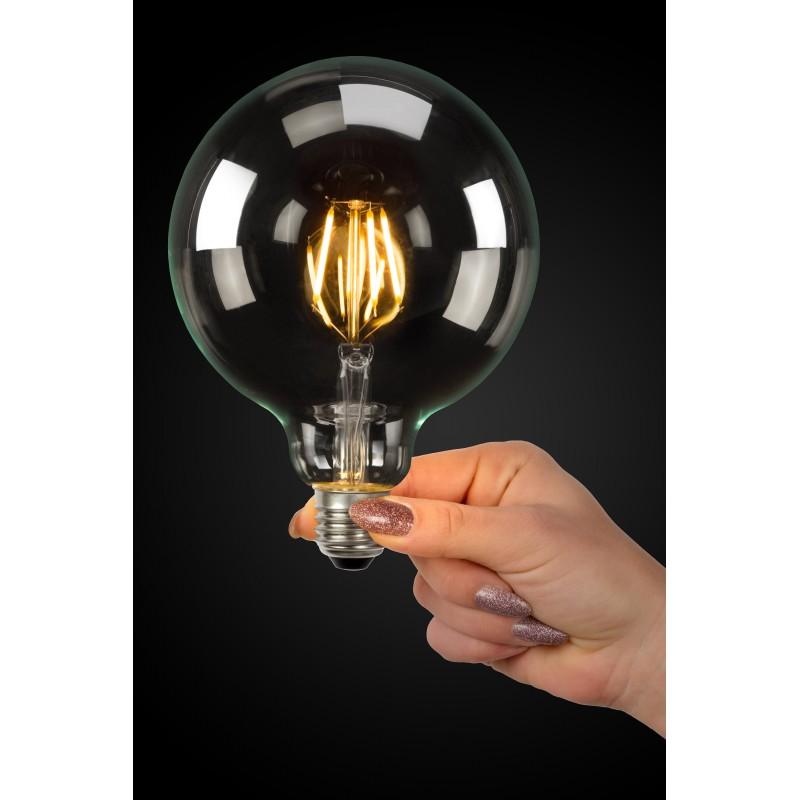 LED Bulb E27, Ø 12,5 cm - Transparant