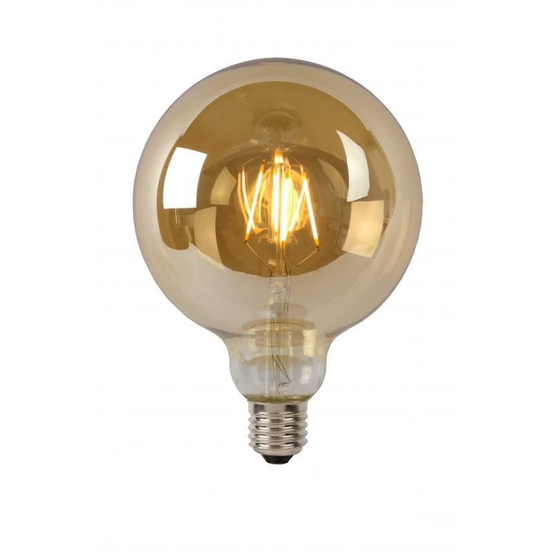 LED Bulb E27, Ø 12,5 cm - Amber