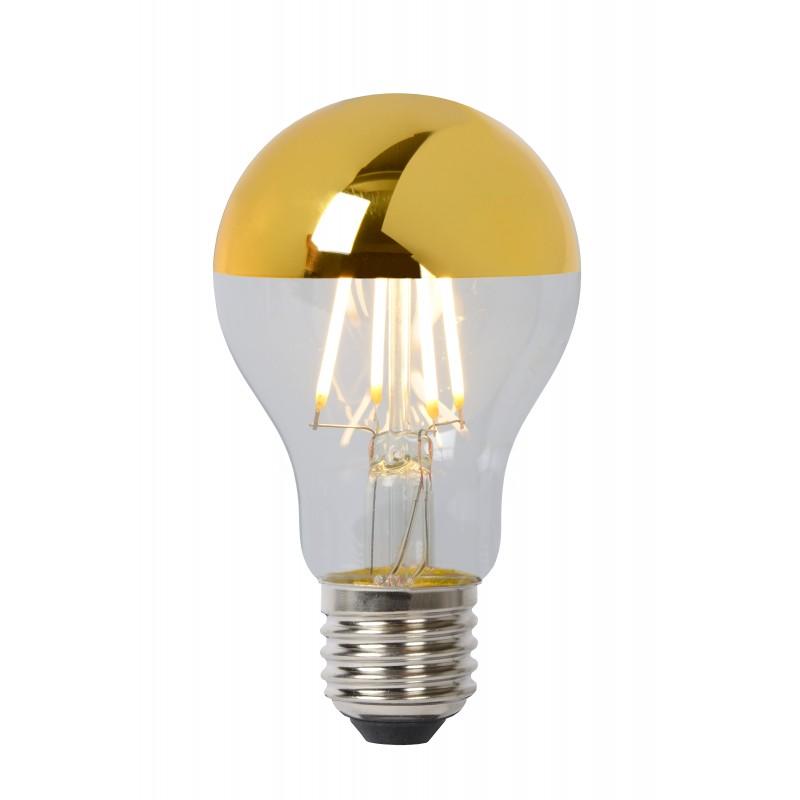 LED Bulb E27, Ø 6 cm - Gold