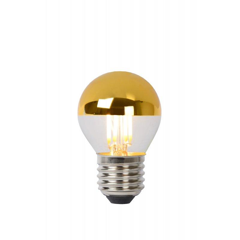 LED Bulb E27, Ø 4,5 cm - Gold