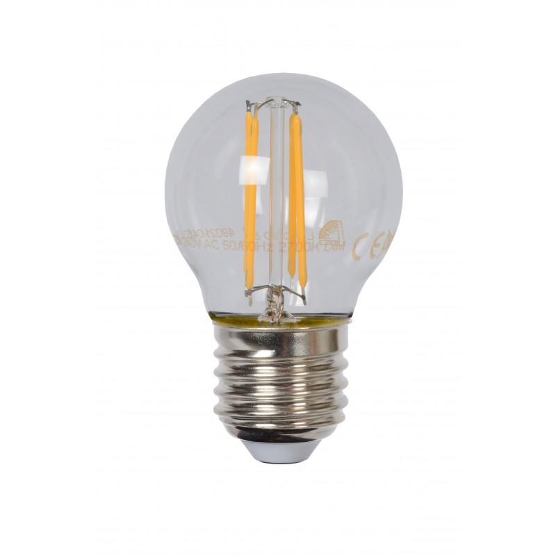 LED Bulb E27, Ø 4,5 cm - Amber