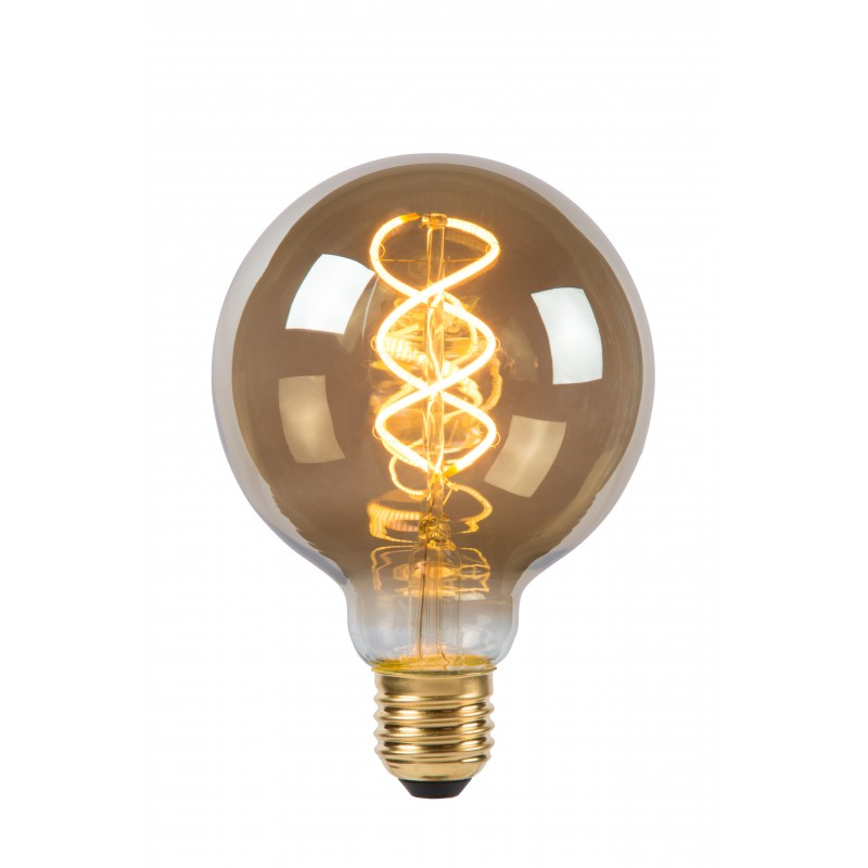 LED Bulb E27, Ø 9,5 cm - Smoke Grey