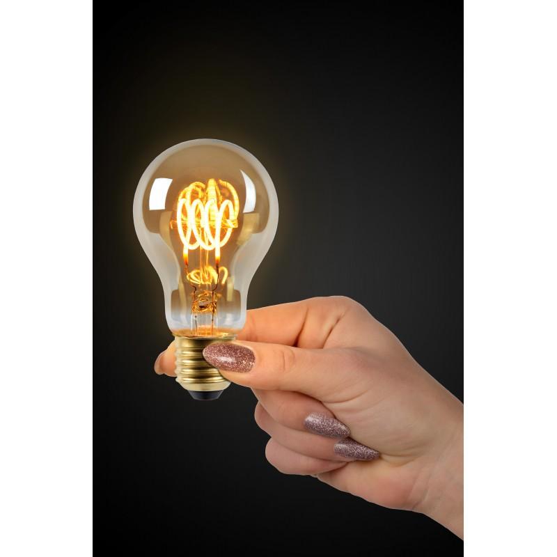 LED Bulb E27, Ø 6 cm Smoke Grey