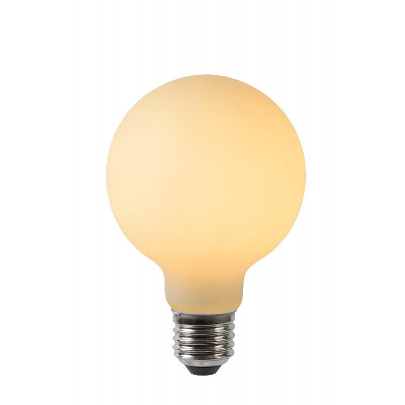 LED Bulb E27, Ø 8 cm - Opal