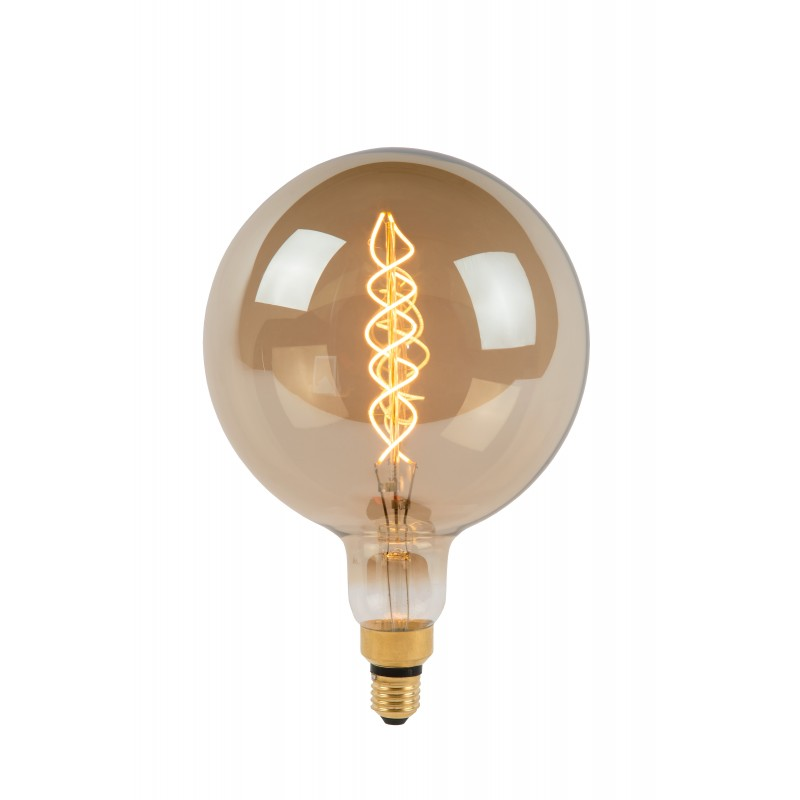 LED Bulb E27, Ø 20 cm - Smoke Grey