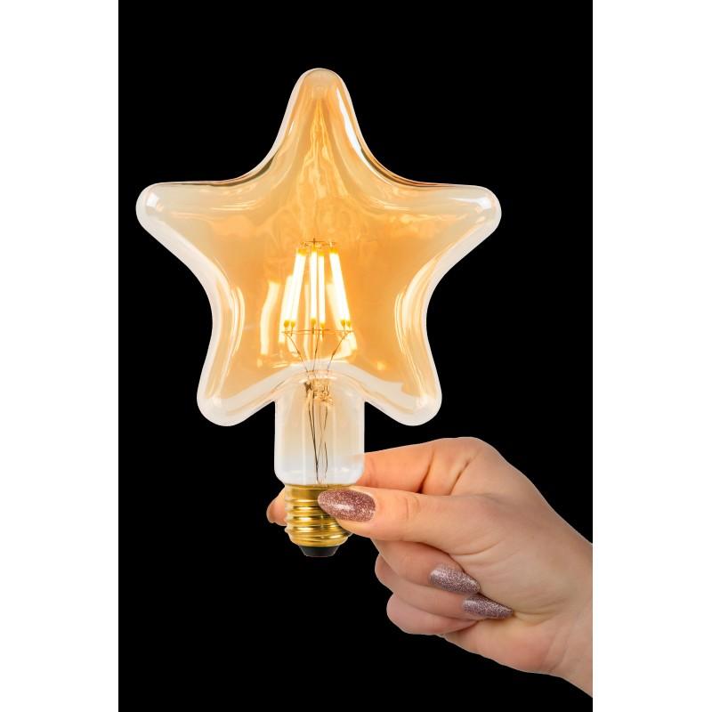 LED Bulb E27, Ø 6,4 cm, Filament bulb - Amber