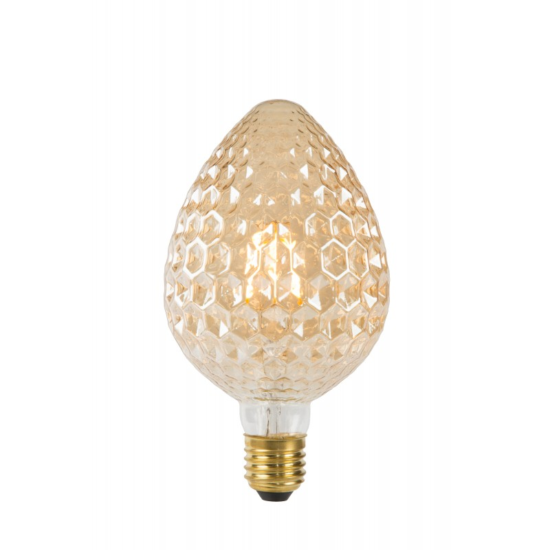 LED Bulb E27, Ø 9,5 cm - Amber - Amber