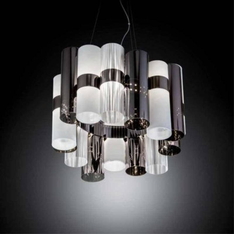 Pendant lamp LA LOLLO Pewter White