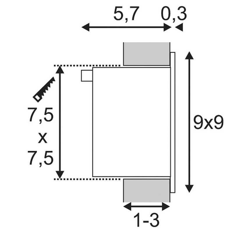 Downlight lamp FRAME BASIC