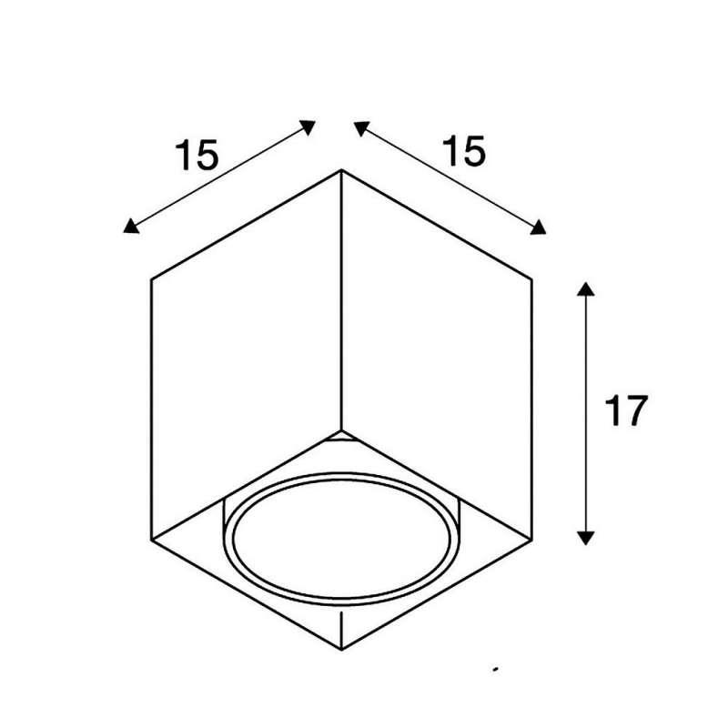 Ceiling lamp ACRYLBOX