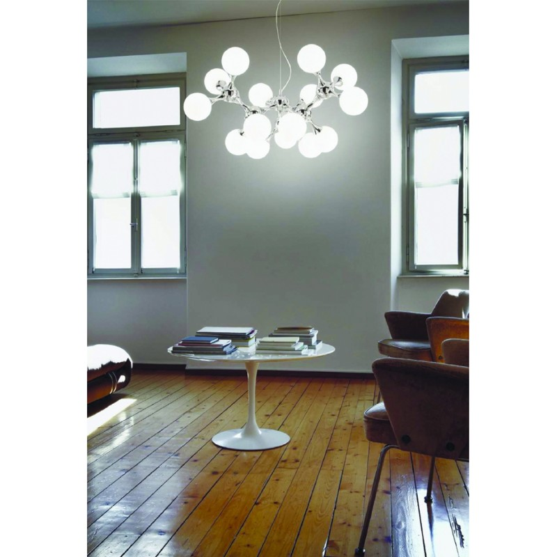 Pendant lamp NODI BIANCO SP15 Chrome