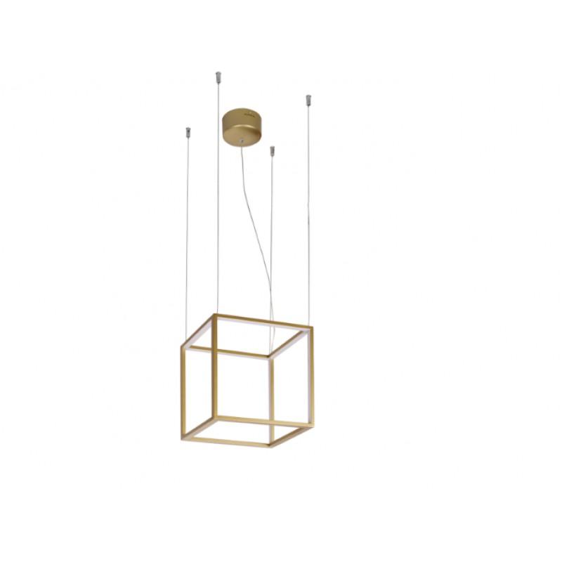 Pendant lamp GOLD- CUBE 30 x 30 cm